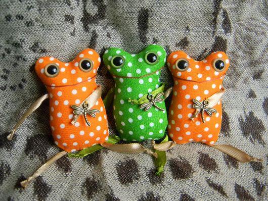 Игрушки животные, ручной работы. Ярмарка Мастеров - ручная работа. Купить Лягушки-малышки. Handmade. Зеленый, текстильные игрушки