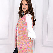 Одежда handmade. Livemaster - original item Vest from fabric Chanel rose. Handmade.
