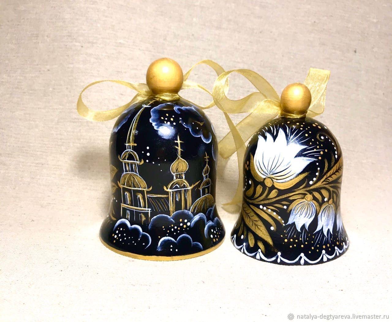 Колокольчики расписаны в стиле петербургской росписи, Колокольчики, Тула,  Фото №1
