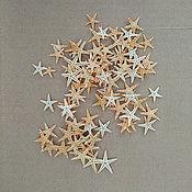 Материалы для творчества ручной работы. Ярмарка Мастеров - ручная работа Морские звезды 10 шт. 1 см. Handmade.