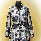 Одежда ручной работы. Ярмарка Мастеров - ручная работа Пальто из жаккарда утепленное. Handmade.
