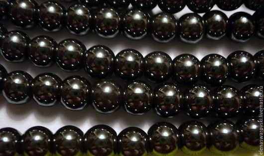 Для украшений ручной работы. Ярмарка Мастеров - ручная работа. Купить Гематит 4 мм. Handmade. Гематит, черный камень