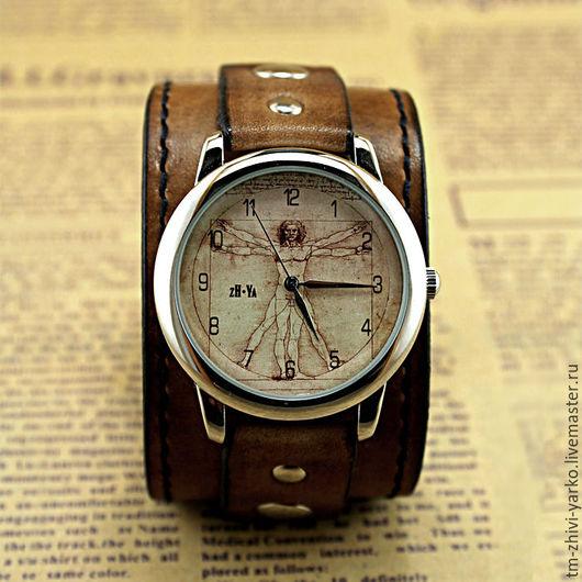 """Часы ручной работы. Ярмарка Мастеров - ручная работа. Купить Часы наручные """"Витрувианский Человек"""". Handmade. Часы"""