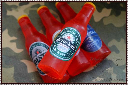 """Мыло ручной работы. Ярмарка Мастеров - ручная работа. Купить Мыло """"Бутылочка пива"""". Handmade. Оранжевый, 23 февраля подарок"""