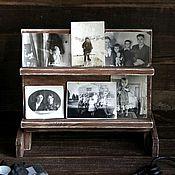"""Канцелярские товары ручной работы. Ярмарка Мастеров - ручная работа Подставка деревянная """"Воспоминания"""". Handmade."""