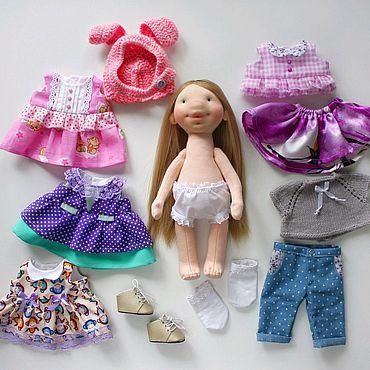 Куклы и игрушки ручной работы. Ярмарка Мастеров - ручная работа Игровая кукла со сменной одеждой. Handmade.