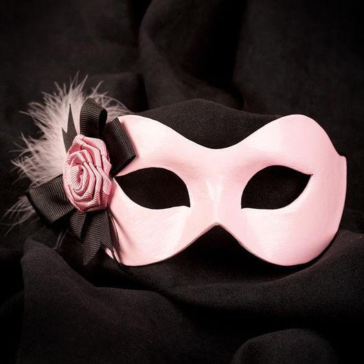 """Карнавальные костюмы ручной работы. Ярмарка Мастеров - ручная работа. Купить Карнавальная маска """"Амадеа"""" Розовый/Черный. Handmade. Карнавальная маска"""