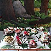 Кукольная еда ручной работы. Ярмарка Мастеров - ручная работа Кукольная еда:  пироженые. Handmade.