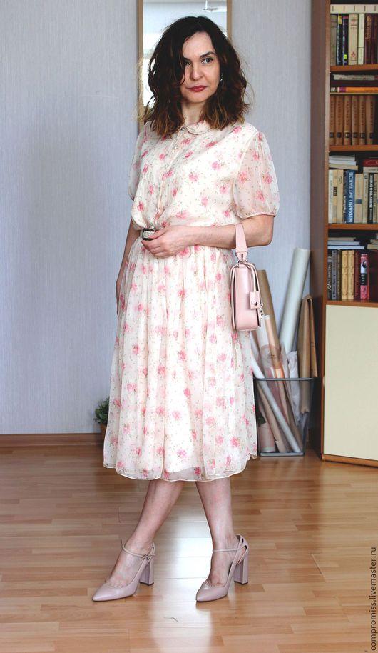 """Платья ручной работы. Ярмарка Мастеров - ручная работа. Купить платье """"школьный вальс"""". Handmade. Кремовый, с поясом, на заказ"""