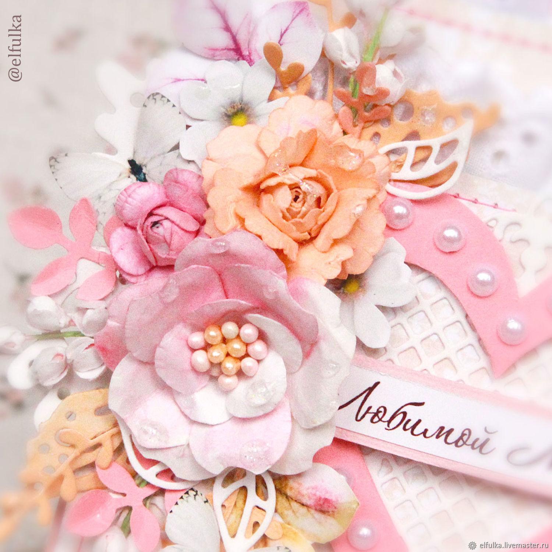 Открытка с цветами для мамы