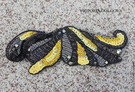 Браслеты ручной работы. Ярмарка Мастеров - ручная работа. Купить Солнечная бабочка. Handmade. Желтый, стразы, рубка, чешский бисер