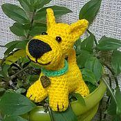 """Мягкие игрушки ручной работы. Ярмарка Мастеров - ручная работа Игрушка вязаная """"Милый пес"""". Handmade."""