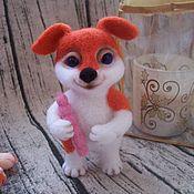 Игрушка валяная Рыжий пёс Бимка