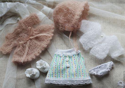 Одежда для кукол ручной работы. Ярмарка Мастеров - ручная работа. Купить Комплект одежды для куклы 12 см.. Handmade.