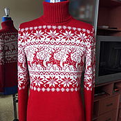 Одежда handmade. Livemaster - original item Sweater with deer. Handmade.