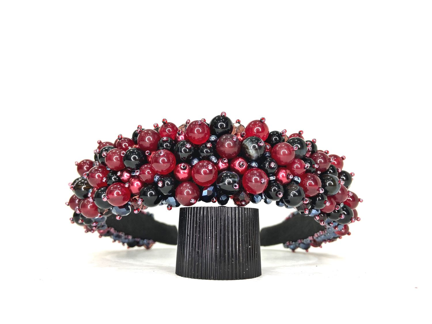 A rim of beads and stones (agate), Headband, Moscow,  Фото №1