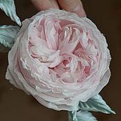 Украшения handmade. Livemaster - original item Silk flowers Brooch rose Austin.. Handmade.