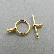 Материалы для творчества handmade. Livemaster - original item Locking clasp to jewelry toggle in Gold (Ref. 1707). Handmade.