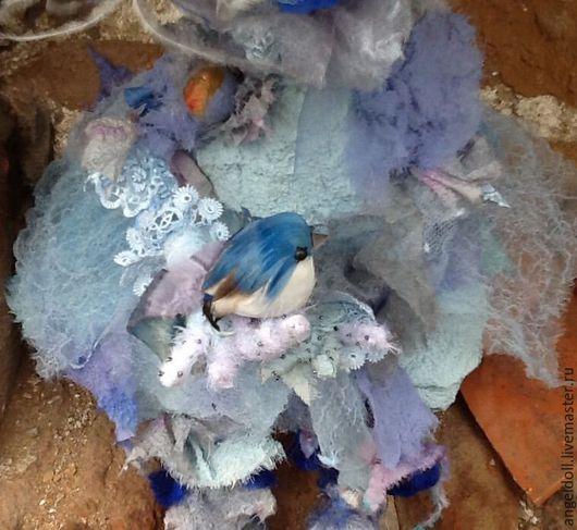 Коллекционные куклы ручной работы. Ярмарка Мастеров - ручная работа. Купить В голубые дали.... Handmade. Голубой, текстиль