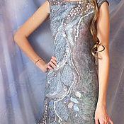 Одежда ручной работы. Ярмарка Мастеров - ручная работа Валяное платье...Туман. Handmade.
