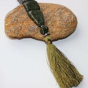 Фен-шуй и эзотерика ручной работы. Ярмарка Мастеров - ручная работа Четки перекидные из камня змеевик (CH0017). Handmade.