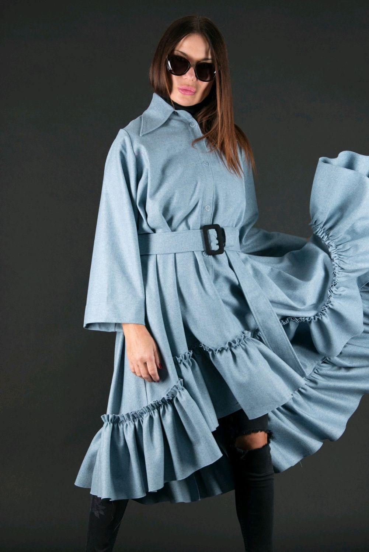 Стильное зимнее платье из кашемира - DR0463CA, Платья, София,  Фото №1