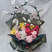 Цветы и флористика handmade. Livemaster - original item Basket with spring flowers. Handmade.