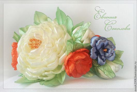 Диадемы, обручи ручной работы. Ярмарка Мастеров - ручная работа. Купить Ободок с цветами.. Handmade. Ободок с цветами, украшение с цветами