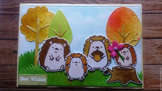 Детские открытки ручной работы. Ярмарка Мастеров - ручная работа. Купить Чтобы папа добрым был, чтобы маму он любил, чтобы мой дружок.... Handmade.