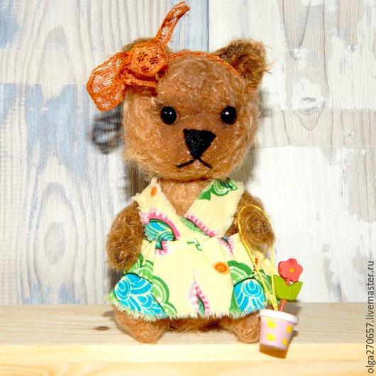 Мишки Тедди ручной работы. Ярмарка Мастеров - ручная работа. Купить Головастая мишка Катерина. Handmade. Бежевый, мохер