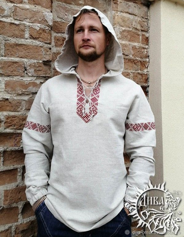 Shirt with a hood 'Ratislav', Mens shirts, Omsk,  Фото №1