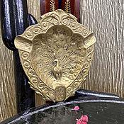 Винтаж handmade. Livemaster - original item Passionate peacock. Ashtray/interior decoration.. Handmade.