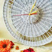 Для дома и интерьера ручной работы. Ярмарка Мастеров - ручная работа Часы плетёные. Handmade.