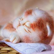 Куклы и игрушки ручной работы. Ярмарка Мастеров - ручная работа Спящий котенок. Сплюшка.. Handmade.