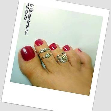 Украшения ручной работы. Ярмарка Мастеров - ручная работа Серебряные колечки на палец ноги в ассортименте, wire wrap. Handmade.