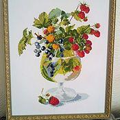 Картины ручной работы. Ярмарка Мастеров - ручная работа Лето, ах лето. Вышитая крестиком картина размер 54х43. Handmade.