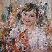 Картины и панно ручной работы. Ярмарка Мастеров - ручная работа Картина маслом Лиза. Handmade.