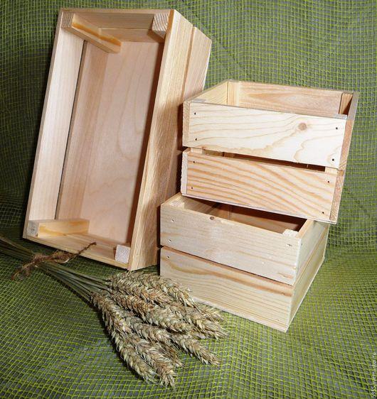 Ящики деревянные  Разные размеры Купить ящик Выполнены из сосновых реек и фанеры Деревянные ящички  ручной работы Палочка-выручалочка.