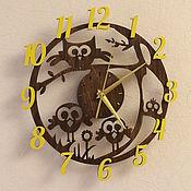 Часы классические ручной работы. Ярмарка Мастеров - ручная работа Часы сова необычный подарок ребенку на день рождения детям в детскую. Handmade.
