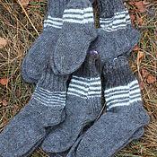 Аксессуары handmade. Livemaster - original item Downy knitted socks. Handmade.