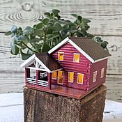 Сувениры и подарки handmade. Livemaster - original item Miniature copy of a country house to order by photo, night Light candle holder. Handmade.