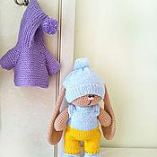 Куклы и игрушки ручной работы. Ярмарка Мастеров - ручная работа Зайка-пухляш. Вязаный зайчик . заяц. игрушка. Handmade.
