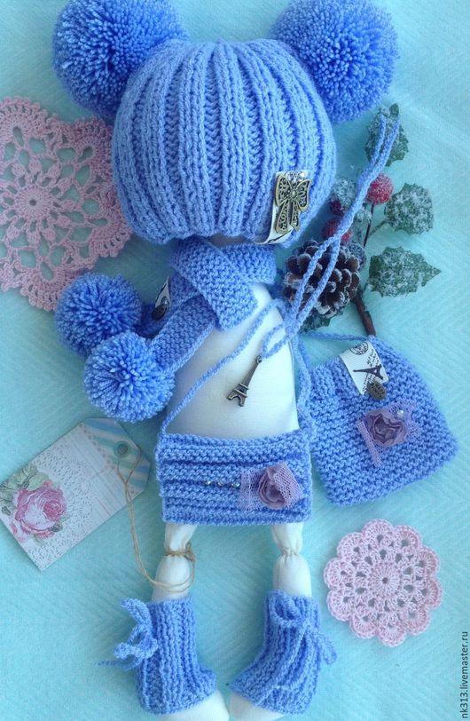 """Одежда для кукол ручной работы. Ярмарка Мастеров - ручная работа. Купить Комплект """"Сиреневый Париж"""". Одежда для кукол. Handmade. шапка"""