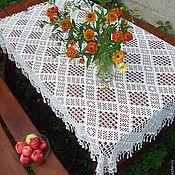 Для дома и интерьера handmade. Livemaster - original item Tablecloth knitted Elegant. Handmade.