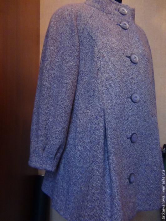 Верхняя одежда ручной работы. Ярмарка Мастеров - ручная работа. Купить Пальто из твида. Handmade. Брусничный, пальто на подкладке