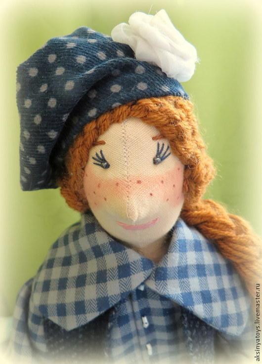 Коллекционные куклы ручной работы. Ярмарка Мастеров - ручная работа. Купить Текстильная кукла Таисия.. Handmade. Тёмно-синий, синтепон