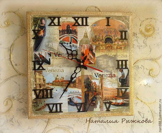 Часы для дома ручной работы. Ярмарка Мастеров - ручная работа. Купить часы настенные Венеция. Handmade. Бежевый