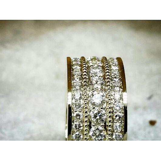 Кольца ручной работы. Ярмарка Мастеров - ручная работа. Купить Широкое кольцо с бриллиантами. Handmade. Кольцо, бриллианты, обручальные кольца