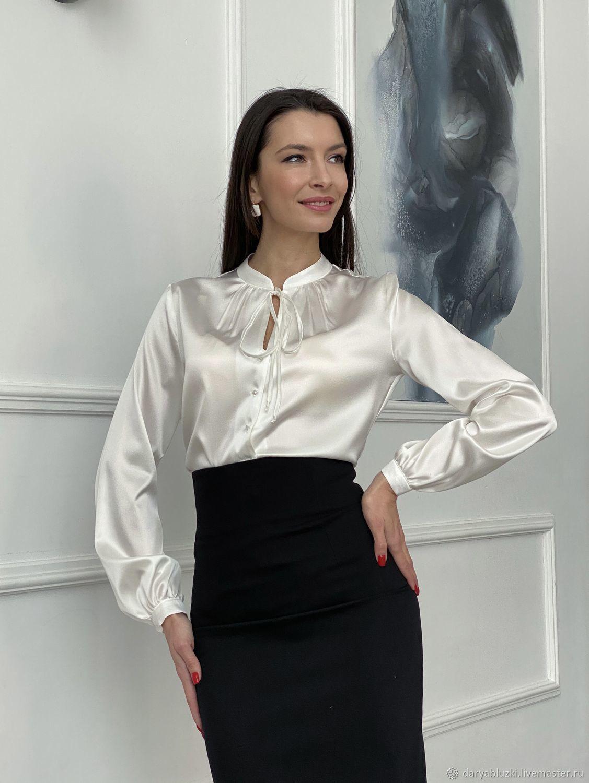 Блузка из натурального шелка, Блузки, Владимир,  Фото №1