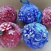 Елочные игрушки ручной работы. Ярмарка Мастеров - ручная работа Шарики новогодние. Handmade.